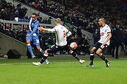 Kaid Mohamed crosses during the The FA Cup Third Round Replay match between Bolton Wanderers and Eastleigh at the Macron Stadium, Bolton, England on 19 January 2016. Photo by Pete Burns.