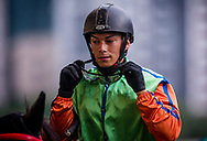 Jockey Alexis Badel after a Barrier Trail at Happy Valley Racecourse on January 20, 2018 in Happy Valley Hong Kong. (Photo: Alex Evers)