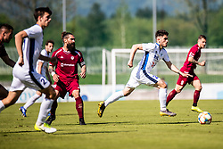 Majcen Luka of NK Triglav  and Adis Hodzic of ND Gorica during Football match between NK Triglav Kranj and ND Gorica in 30th Round of Prva liga Telekom Slovenije 2018/19, on May 2nd, 2019, in Sports park Kranj, Slovenia. Photo by Grega Valancic / Sportida