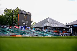 A general view of Rodney park and Guniness Pro 14 branding Guinness PRO14, Rodney Parade, Newport, UK 29/08/2020<br /> Dragons vs Scarlets<br /> <br /> Mandatory Credit ©INPHO/Dougie Allward