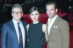 © Licensed to London News Pictures. 20/01/2014, UK. Kenneth Branagh; Keira Knightley; Chris Pine, Jack Ryan: Shadow Recruit - European Film Premiere, Vue West End, Leicester Square, London UK, 20 January 2014. Photo credit : Richard Goldschmidt/Piqtured/LNP