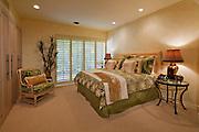 Bedroom interior of luxurious villa