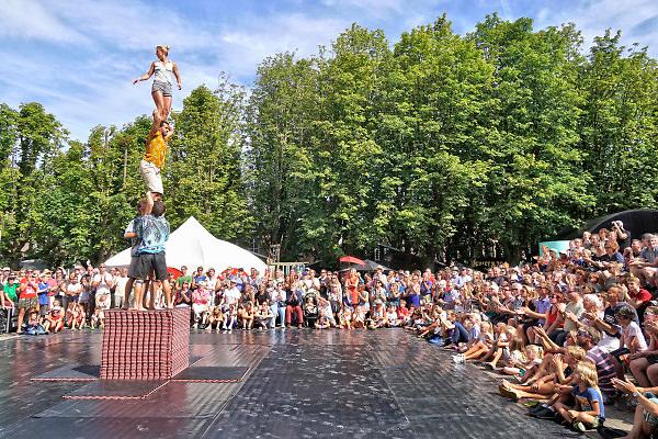 Nederland, the netherlands, Den Bosch, 12-8-2018Theaterfestival de boulevard op de parade in Den Bosch .Foto: Flip Franssen