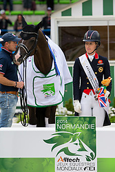 Charlotte Dujardin and Valegro world champion Grand Prix Special - Grand Prix Special Dressage - Alltech FEI World Equestrian Games™ 2014 - Normandy, France.<br /> © Hippo Foto Team - Leanjo de Koster<br /> 25/06/14
