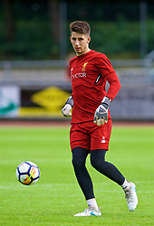 ROTTACH-EGERN, GERMANY - Friday, July 28, 2017: Liverpool's goalkeeper Kamil Grabara during a training session at FC Rottach-Egern on day three of the preseason training camp in Germany. (Pic by David Rawcliffe/Propaganda)