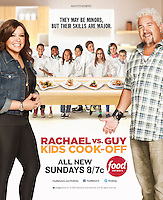 Advertising Image for Food Network with Celebrity Chef's Rachael Ray vs Guy Fieri on Kids Cook-off by Michel Leroy PHOTOGRAPHER