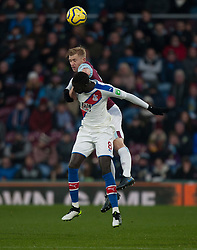 Ben Mee of Burnley (Top) and Cheikhou Kouyate of Crystal Palace in action - Mandatory by-line: Jack Phillips/JMP - 30/11/2019 - FOOTBALL - Turf Moor - Burnley, England - Burnley v Crystal Palace - English Premier League