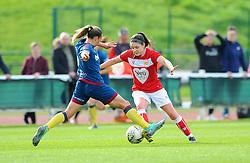 Ria Percival tackles Carla Humphrey of Bristol City- Mandatory by-line: Nizaam Jones/JMP - 28/04/2019 - FOOTBALL - Stoke Gifford Stadium - Bristol, England - Bristol City Women v West Ham United Women - FA Women's Super League 1