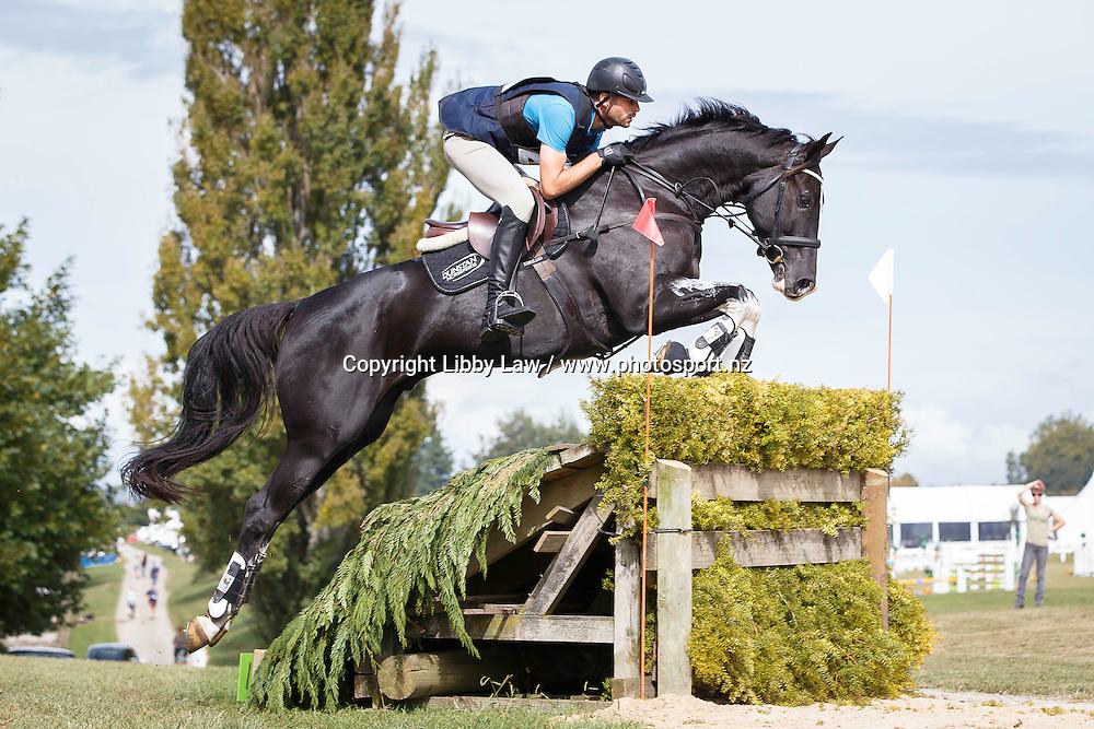 NZL-Nick Brooks (VERSACE C) INTERIM-3RD: CIC2* CROSS COUNTRY: 2016 NZL-Kihikihi International Horse Trial (Saturday 9 April) CREDIT: Libby Law COPYRIGHT: LIBBY LAW PHOTOGRAPHY