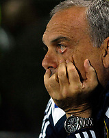Photo: Jed Wee/Sportsbeat Images.<br /> Hull City v Chelsea. Carling Cup. 26/09/2007.<br /> <br /> Chelsea manager Avram Grant watches the match with a glum expression.