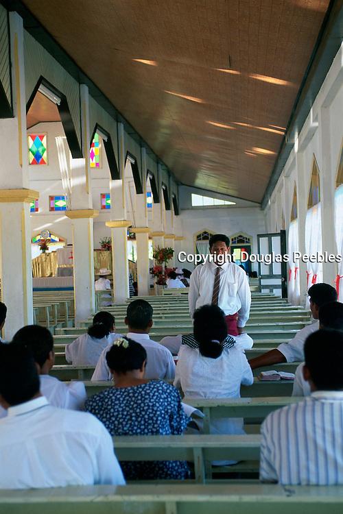 Church, Vaisala, Island of Savaii, Samoa, (editorial use only- no model release)<br />