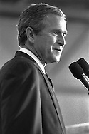 George W. Bush on the campaign trail for President of the US.