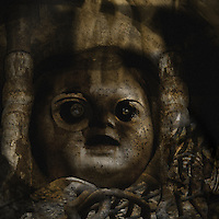 The haunting face of a doll