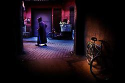 Rue Riad Zitoun El Kedim, in the central medina, Marrakech, Morocco.