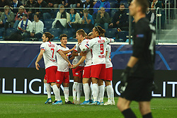 November 5, 2019, St. Petersburg, Russia: Russian Federation. Saint-Petersburg. Gazprom Arena. Football. UEFA Champions League. Group G. round 4. Football club Zenit - Football Club RB Leipzig. Players FC RB Leipzig (Credit Image: © Russian Look via ZUMA Wire)