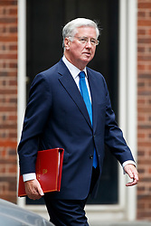 © Licensed to London News Pictures. 11/07/2017. London, UK. Defence Secretary MICHAEL FALLON attends a cabinet meeting in Downing Street, London on Tuesday, 11 July 2017. Photo credit: Tolga Akmen/LNP