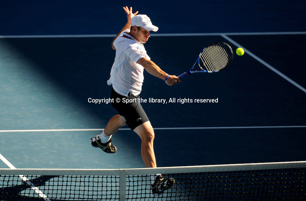 Andy Roddick (USA) Q-Finals<br /> 2010 Australian Open Tennis<br /> Melbourne Park, Victoria<br /> January 18 - 31 2010<br /> &copy; Sport the library/Jeff Crow