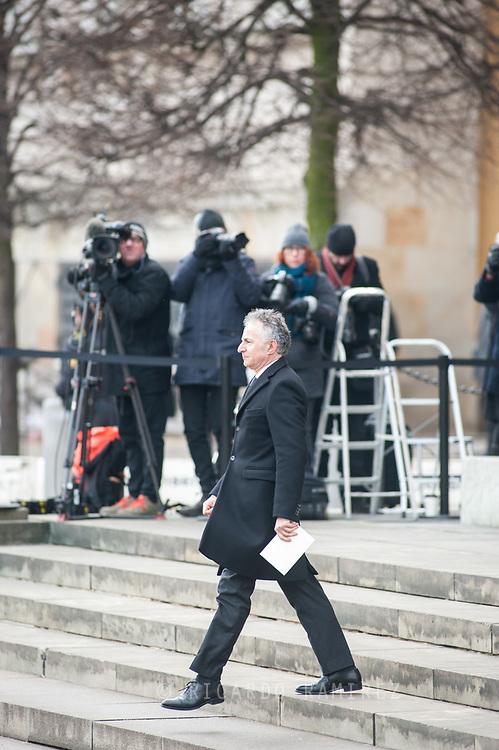 20.02.2018. Copenhagen, Denmark. <br /> French ambassador François Zimeray's leaves  the Christiansborg Palace Church. <br /> Photo: Ricardo Ramirez.