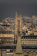 France. Paris. elevated view. Paris view from the sorbone  church