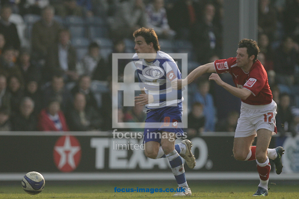 London - Saturday March 21st, 2009: Jordi Lopez (L) of QPR in action against Ivan Sproule of Bristol City during the Coca Cola Championship match at Loftus Road, London. (Pic by Mark Chapman/Focus Images)