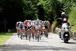 Lizzie Armitstead (Boels Dolmans) leads the way up the first of two ascents to Montenars at Giro Rosa 2016 - Stage 2. A 111.1 km road race from Tarcento to Montenars, Italy on July 3rd 2016.