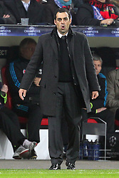 23.11.2011, BayArena, Leverkusen, Germany, UEFA CL, Gruppe E, Bayer 04 Leverkusen (GER) vs Chelsea FC (ENG), im Bild Robin Dutt (Trainer Leverkusen) atmet durch // during the football match of UEFA Champions league, group E, between Bayer Leverkusen (GER) and FC Chelsea (ENG) at BayArena, Leverkusen, Germany on 2011/11/23.EXPA Pictures © 2011, PhotoCredit: EXPA/ nph/ Mueller..***** ATTENTION - OUT OF GER, CRO *****