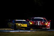 October 1, 2016: IMSA Petit Le Mans, #68 Alessandro Pier Guidi, Daniel Serra, Scuderia Corsa, Ferrari 488 GTE, #3 Mike Rockenfeller, Antonio Garcia, Jan Magnussen, Corvette Racing, Corvette C7 GTLM