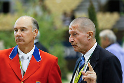 Deslauriers Mario (USA), George Morris (USA)<br /> Rolex FEI World Cup Final - Geneve 2010<br /> © Dirk Caremans