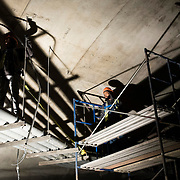 December 12, 2016 - New York, NY :  Men work underground, in the tunnel, near the north end of the 72nd Street Second Avenue subway station, on Monday morning. After years of delays, the new subway line is preparing to welcome its first straphangers. CREDIT: Karsten Moran for The New York Times