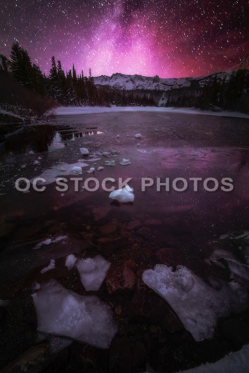 Twin Lakes Mono County at Night