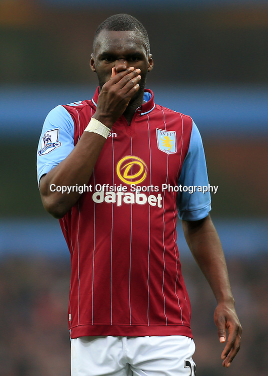 15th February 2015 - FA Cup 5th Round - Aston Villa v Leicester City - Christian Benteke of Villa looks dejected - Photo: Simon Stacpoole / Offside.