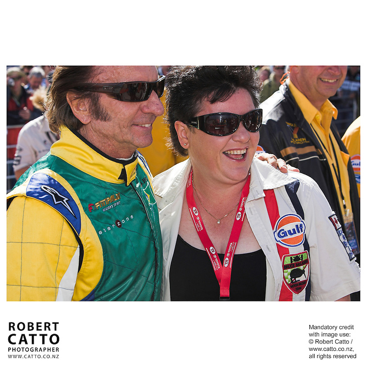 Emerson Fittipaldi;Amanda McLaren at the A1 Grand Prix of New Zealand at the Taupo Motorsport Park, Taupo, New Zealand.