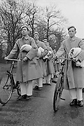 Bicycles, Royal Military College, Sandhurst, England, 1932