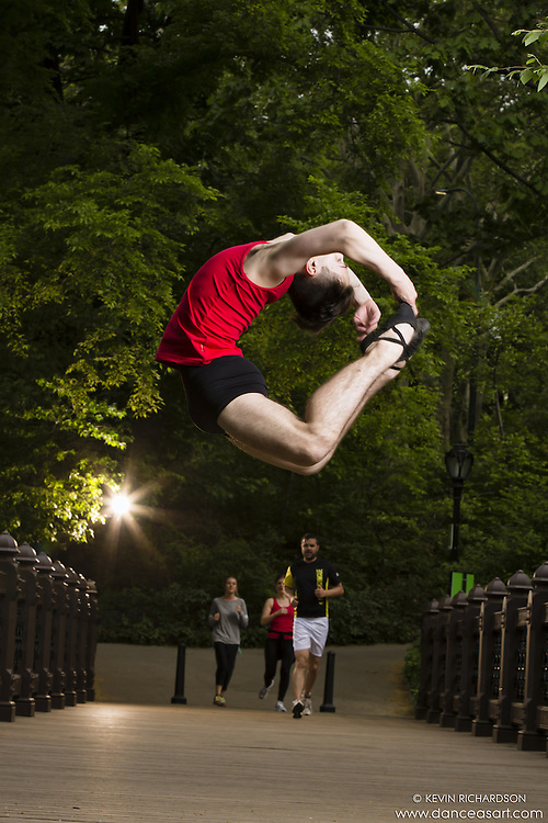 Dance As Art Photography Project Central Park New York City with dancer Jake Speakman. Clothing by Energetiks.