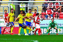 Craig Gardner of Birmingham City shoots at goal - Mandatory by-line: Ryan Crockett/JMP - 22/04/2019 - FOOTBALL - Aesseal New York Stadium - Rotherham, England - Rotherham United v Birmingham City - Sky Bet Championship