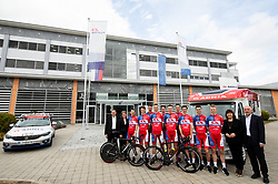 Team photo after the press conference of Continental Cycling team KK Adria Mobil before new season 2020, on February 17, 2020 in Cesca vas, Novo mesto, Slovenia. Photo by Vid Ponikvar / Sportida
