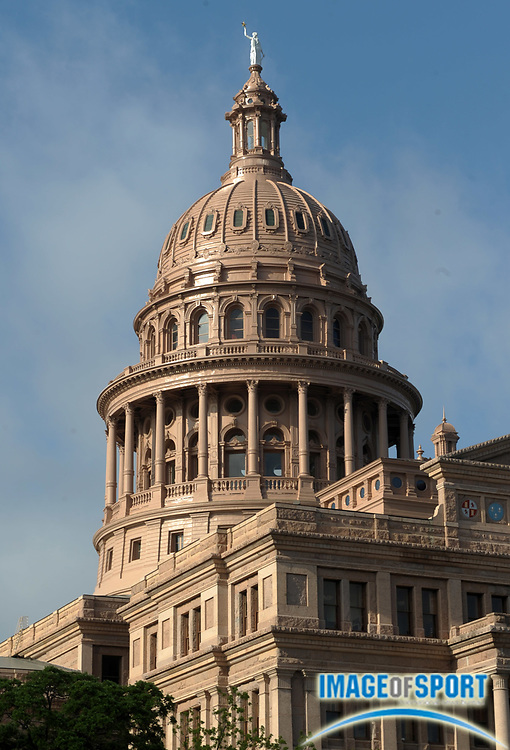 Mar 31, 2012; Austin, TX, USA; General view of the Texas State capitol building.