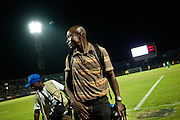The Liberia Lonestar football team plays Angola in an international friendly on August 10, 2011 in Monrovia.