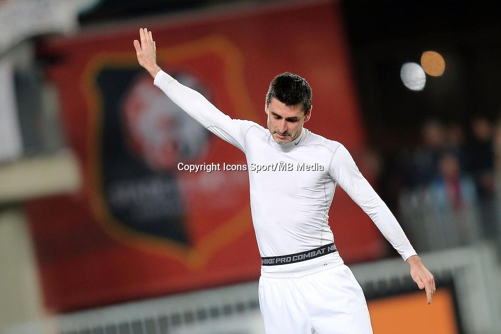 Julien FERET  - 25.01.2015 - Rennes / Caen  - 22eme journee de Ligue1<br />Photo : Vincent Michel / Icon Sport