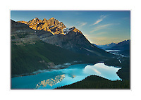 Sunrise over Peyto lake, Banff National Park Alberta Canada