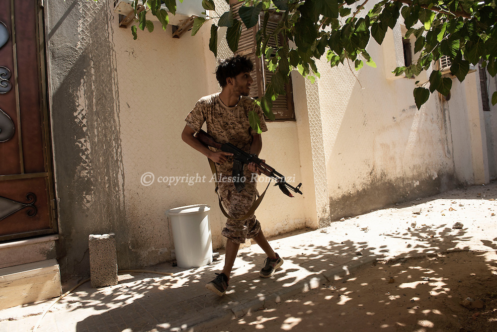 Libya: Libya's Government of National Accord's (GNA) fighter in 700 neighbourhood in Sirte still under ISIS control. Alessio Romenzi