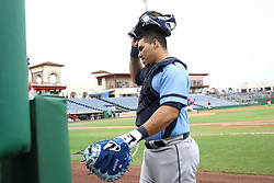 June 5, 2017 - St. Petersburg, Florida, U.S. - WILL VRAGOVIC   |   Times.Charlotte Stone Crabs catcher Wilson Ramos (36) walks to the dugout before the start of the game between the Charlotte Stone Crabs and the Clearwater Threshers at Spectrum Field in Clearwater, Fla. on Monday, June 6, 2017. (Credit Image: © Will Vragovic/Tampa Bay Times via ZUMA Wire)