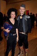 VANIA GALA; MIKHAIL KARAKIS, Migrations private view, Tate Britain. London. 30 January 2012.