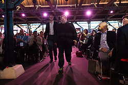 © Licensed to London News Pictures. 05/10/2016. APPLE co-founder STEVE WOZNIAK gives a keynote speech on the 5th anniversary of STEVE JOBS death at the Festival of Marketing where ambitious marketers can discover, learn, celebrate and shape the future together. London, UK. Photo credit: Ray Tang/LNP