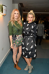 Left to right, ASHLEY JAMES and ASHLEY ROBERTS at a private screening of Eating Happiness in association with the World Dog Alliance held at Mondrian London, 20 Upper Ground, London on 25th January 2016.