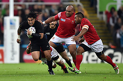 Ma'a Nonu of New Zealand in possession - Mandatory byline: Patrick Khachfe/JMP - 07966 386802 - 09/10/2015 - RUGBY UNION - St James' Park - Newcastle, England - New Zealand v Tonga - Rugby World Cup 2015 Pool C.