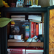 JULY 19, 2018----UTUADO, PUERTO RICO---<br /> A refrigerator turned into a book storage in the living room of the Utuado family without power since Hurricane Maria's path.<br /> (Photo by Angel Valentin/Freelance)