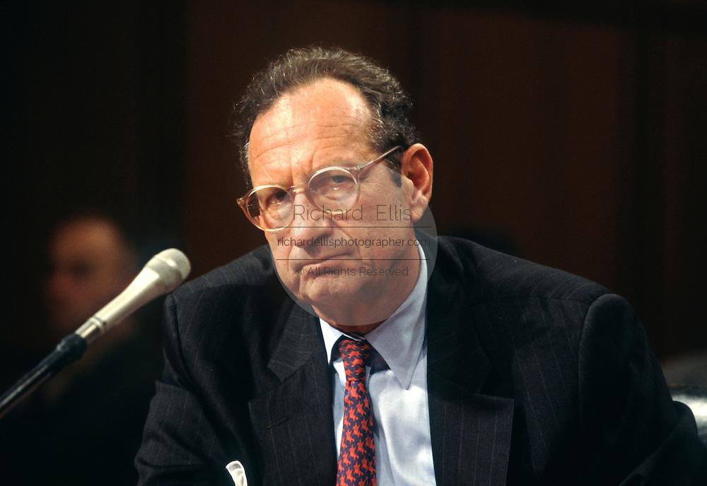 CIA Director John Deutch testifies in Congress on Iraq September 19, 1996 in Washington, DC.