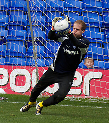 BIRKENHEAD, ENGLAND - Saturday, October 2, 2010: Tranmere Rovers' on loan goalkeeper Peter Gulacsi warms-up before the Football League One match against Brighton & Hove Albion at Prenton Park. (Photo by Vegard Grott/Propaganda)