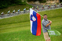 Supporters during 1st Stage of 26th Tour of Slovenia 2019 cycling race between Ljubljana and Rogaska Slatina (171 km), on June 19, 2019 in  Slovenia. Photo by Vid Ponikvar / Sportida